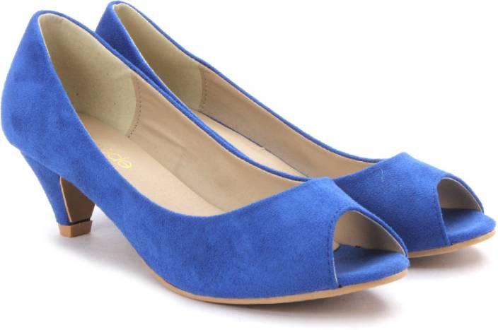 Tresmode Women Blue Heels