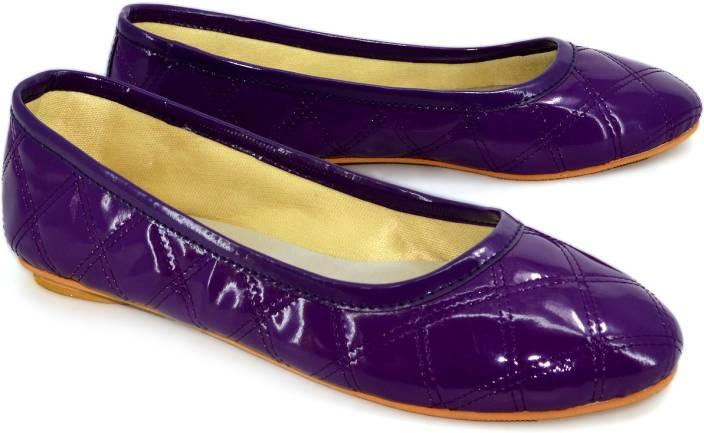 Shoedeal Women PURPLE Flats
