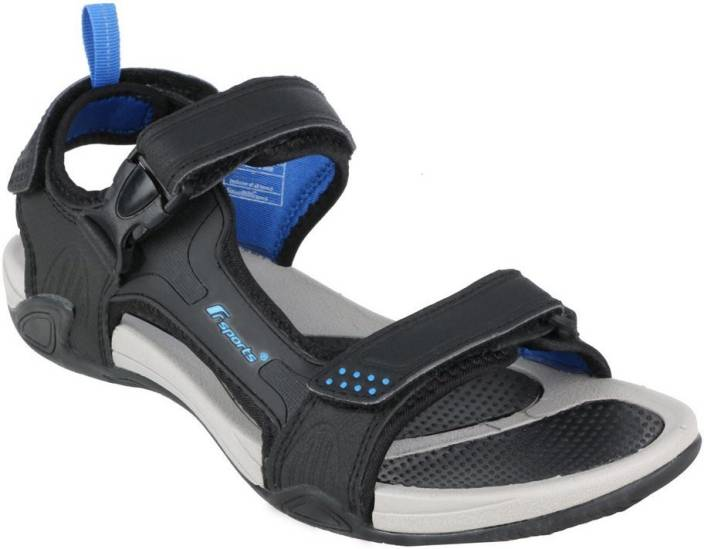 e6e3914f4b178 Fsports Men Black Blue Sandals - Buy Black Blue Color Fsports Men Black  Blue Sandals Online at Best Price - Shop Online for Footwears in India