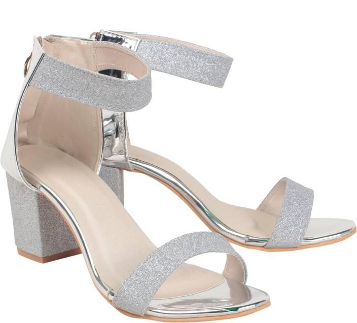 Klaur Melbourne Women Silver Heels - Buy Silver Color Klaur ...