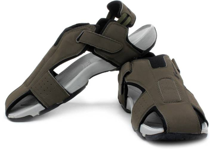 F Sports Men Olive, Blk Sports Sandals