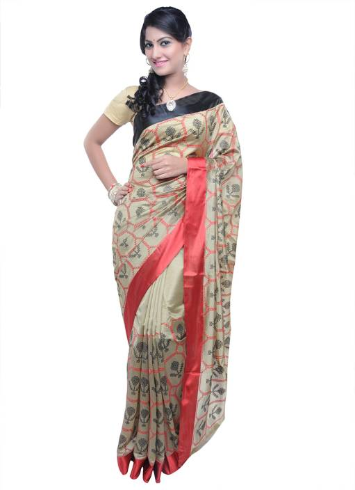 f11dd34301b732 Buy Vandana Fashion Self Design Banarasi Cotton, Silk Multicolor ...