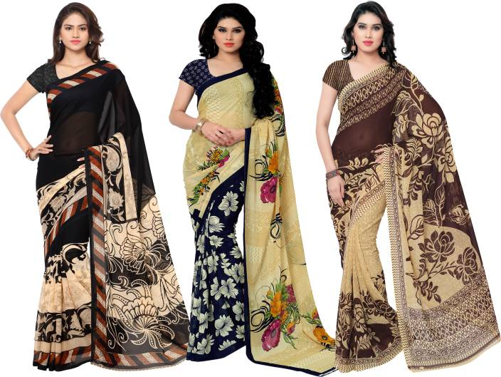 Kashvi Sarees Printed Fashion Georgette Saree