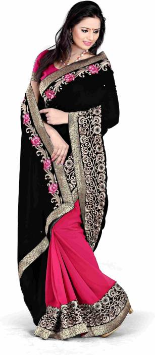 Murli Manohar Fashions Printed Bollywood Georgette Saree