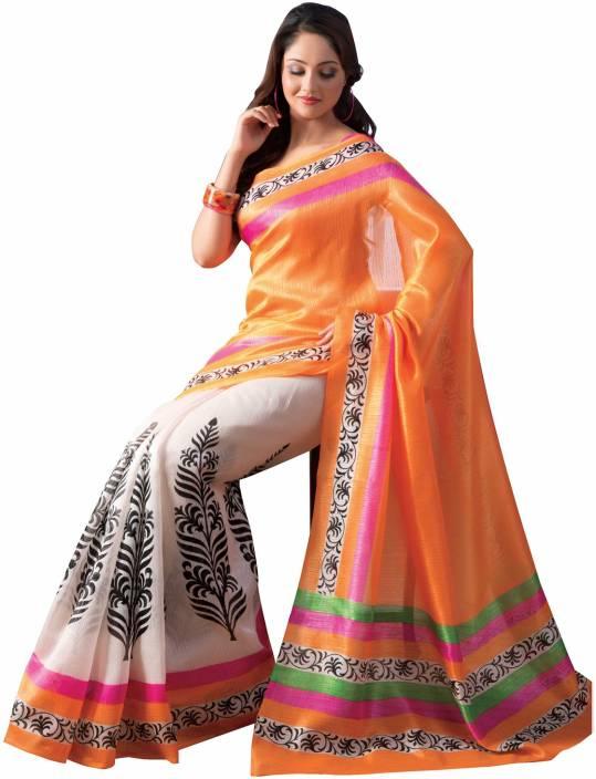 Ishin Floral Print Bhagalpuri Art Silk Saree