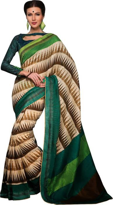 EthnicBasket Printed Bhagalpuri Handloom Silk Saree