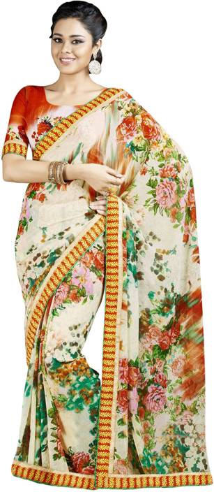 Jiya Printed Fashion Georgette Saree