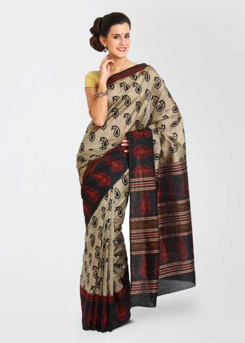 Urban Vastra Paisley Daily Wear Art Silk Saree