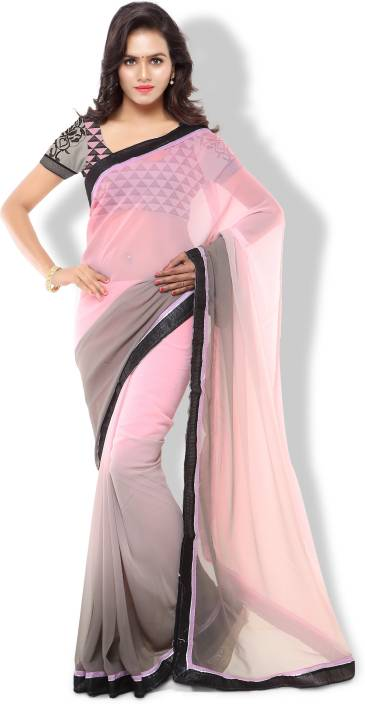 Archishmathi Solid Fashion Georgette Saree