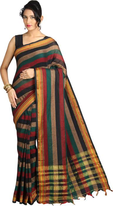 Pavechas Striped Mangalagiri Cotton Saree