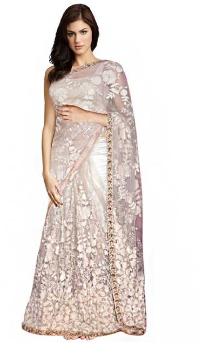 a2ae73c010 Buy Bollywood Designer Self Design Lehenga Saree Net Beige Sarees ...