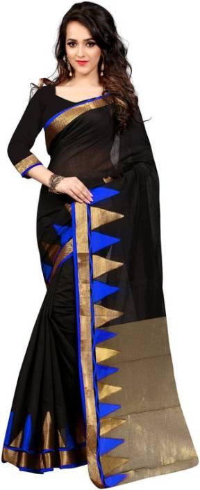 The Fashion World Self Design Fashion Polycotton Saree