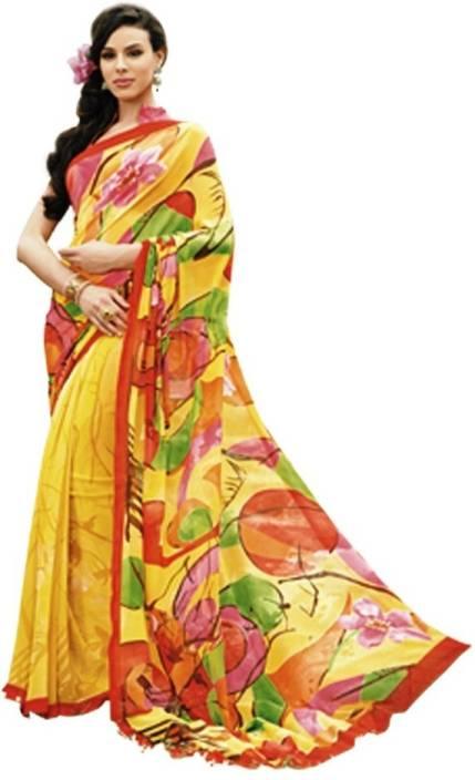Vipul Printed Fashion Georgette Saree