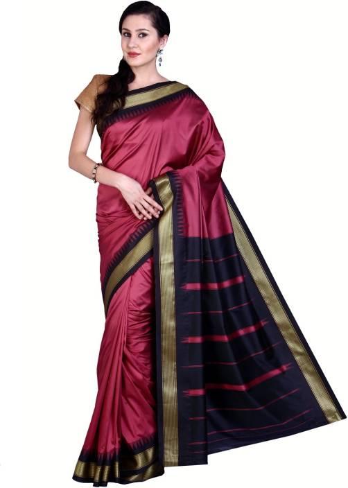 Parchayee Solid Mysore Art Silk Saree