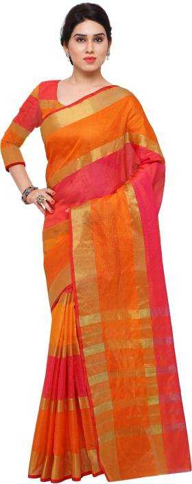 Ratnavati Striped Kanjivaram Art Silk Saree