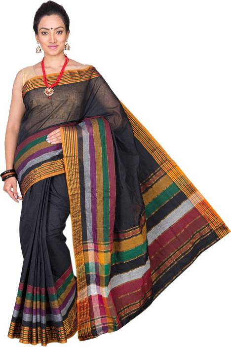 Pavechas Solid Venkatagiri Cotton Saree