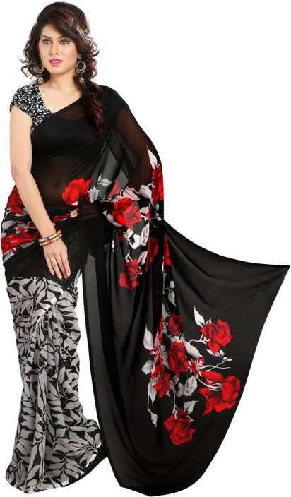 Heena Floral Print Bollywood Georgette Saree