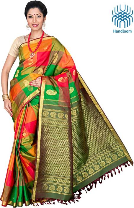 3bc5232093 Buy Co-optex Self Design Coimbatore Silk Multicolor Sarees Online ...