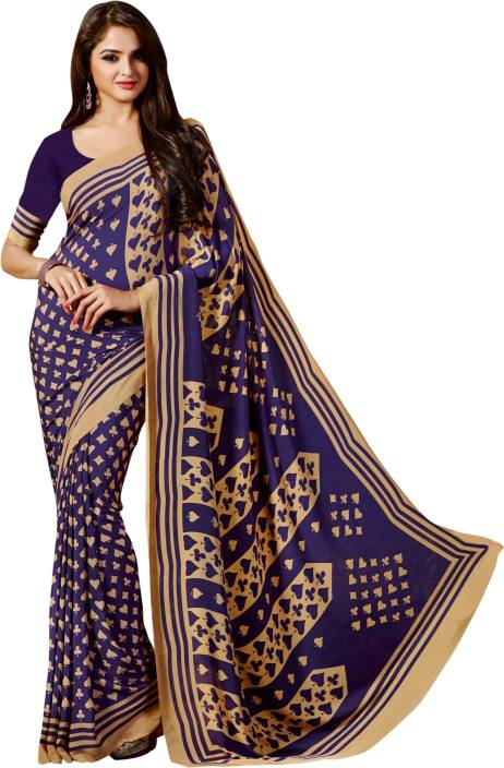 Roop Kashish Printed Fashion Crepe Saree