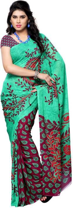 Ambaji Floral Print Daily Wear Georgette Saree