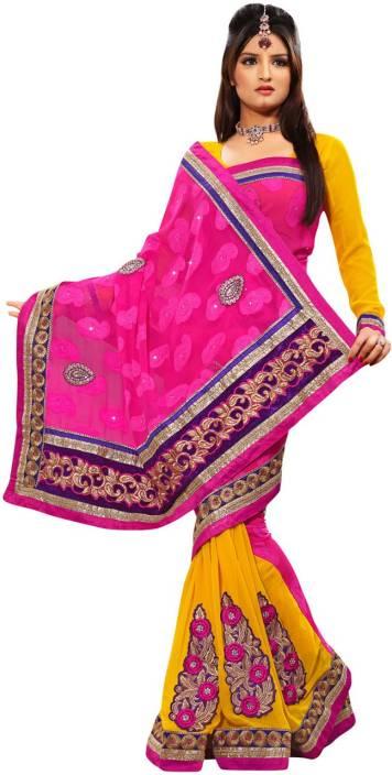 Ambaji Printed Fashion Georgette Saree