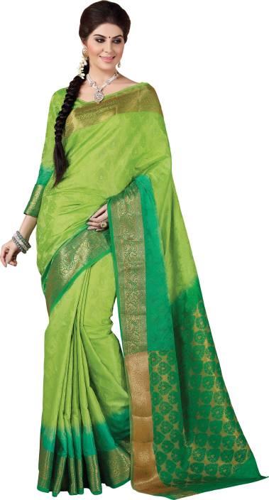 Taanshi Printed Kanjivaram Tussar Silk Saree