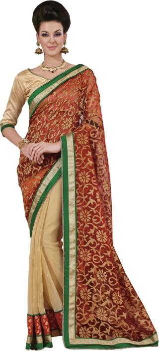 Yosshita & Neha Printed Fashion Chiffon, Net Saree
