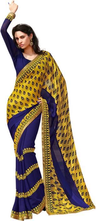 Ambaji Printed Fashion Chiffon, Georgette Saree
