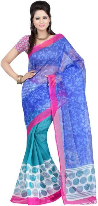 Ambaji Printed Daily Wear Net Saree