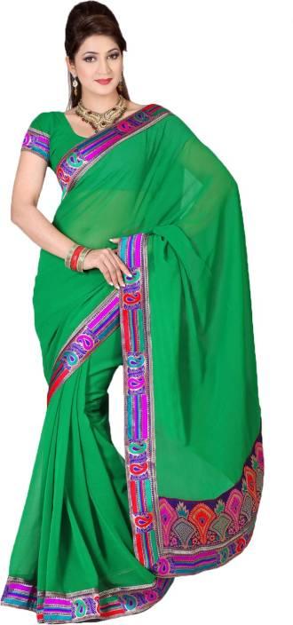 Ishin Embellished Fashion Chiffon Saree