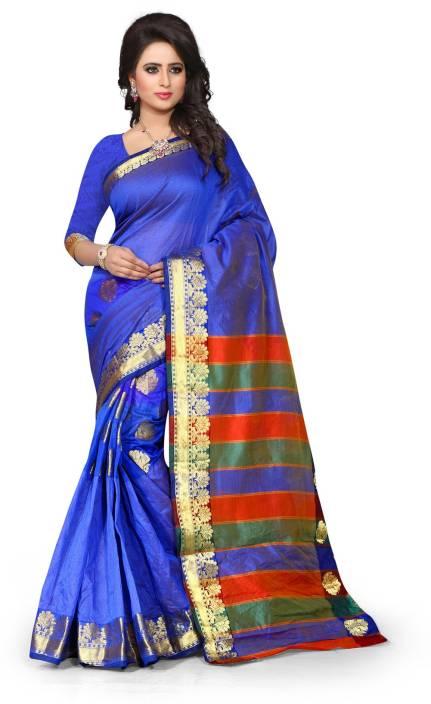 Style U Embellished Kanjivaram Art Silk, Polyester Saree