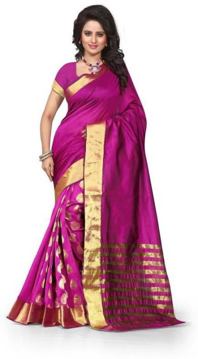 Fabcart Self Design Fashion Polycotton Saree