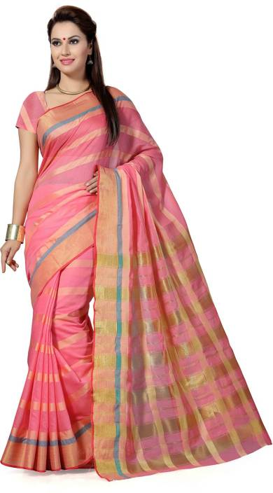 Ishin Woven Fashion Cotton Saree