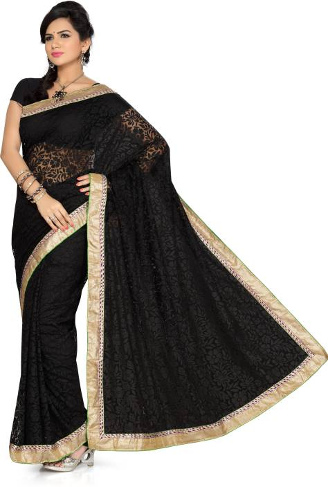 Ishin Solid Fashion Net Saree