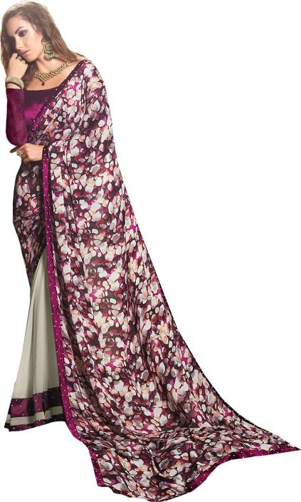Ishin Printed Fashion Georgette Saree
