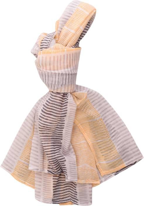 Raaga Textiles Striped Cotton Girls Scarf, Stole