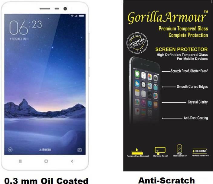 best service 6063f e9436 Gorilla Armour Tempered Glass Guard for Mi Redmi Note 4