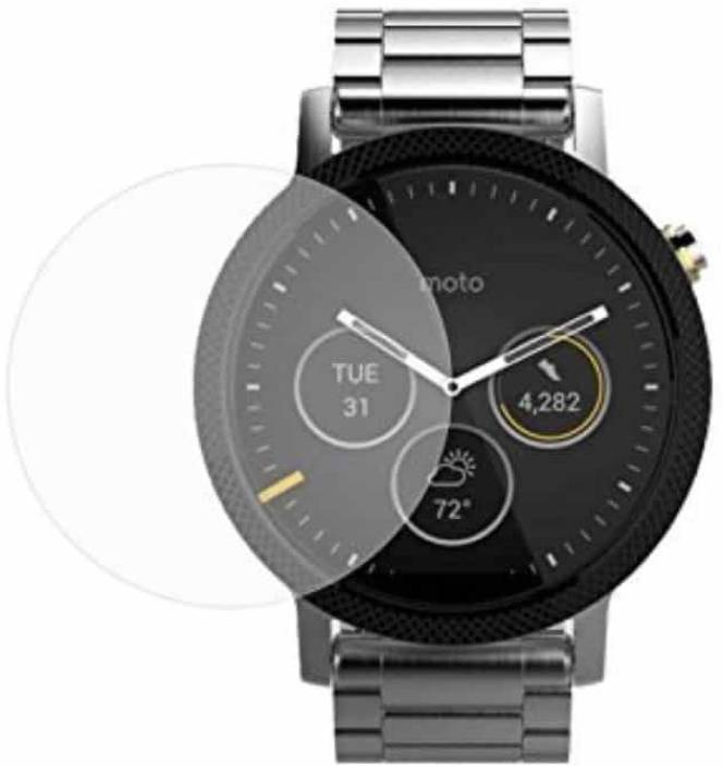 iZAP Tempered Glass Guard for Moto 360 (2nd Gen) Smartwatch (46mm) (Pack of 1)