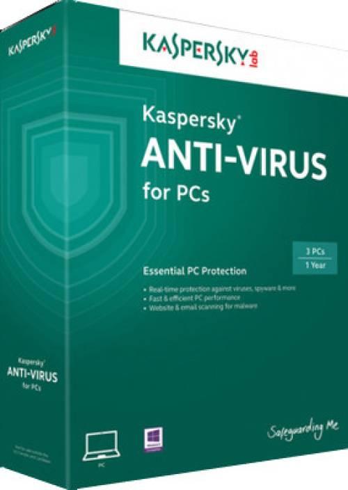 Kaspersky Anti-Virus 2014 3 PC 1 Year