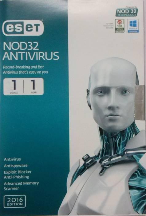 ESET Nod32 Antivirus 2016 Edition 1 User 1 Year
