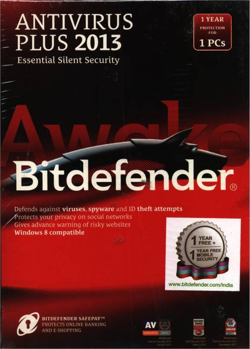 Bitdefender Antivirus Plus 2013 1 PC 1 Year
