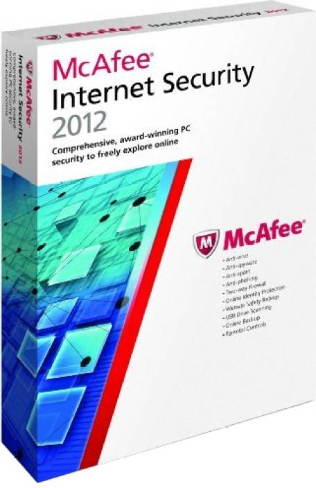 McAfee Internet Security 2012 3 PC 1 Year