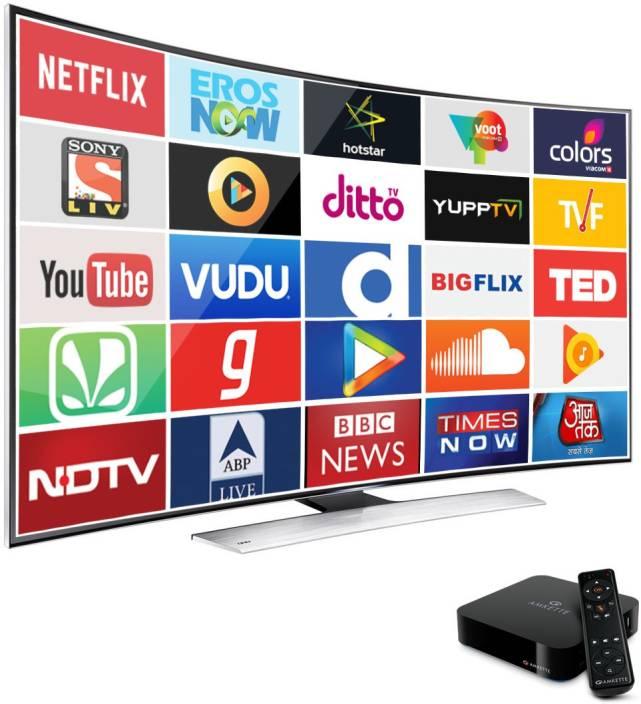Amkette EvoTV2 4K Smart Android Media Streaming Device