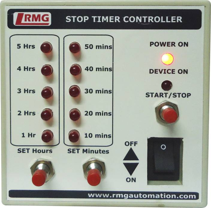 rmg stop timer controller for motor pump operated by switch mcb upto