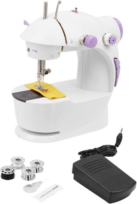 Bluebells India 4 in 1 Mini Electric Sewing  Silai  Machine with Foot Pedal   Adapter, Portable   Compact Machine Electric Sewing Machine    Built i available at Flipkart for Rs.1355