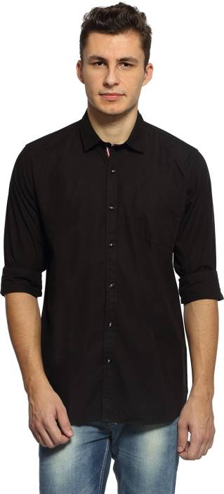 afa52bd0b90 Rockstar Jeans Men s Solid Casual Shirt - Buy Black-102 1 Rockstar Jeans  Men s Solid Casual Shirt Online at Best Prices in India