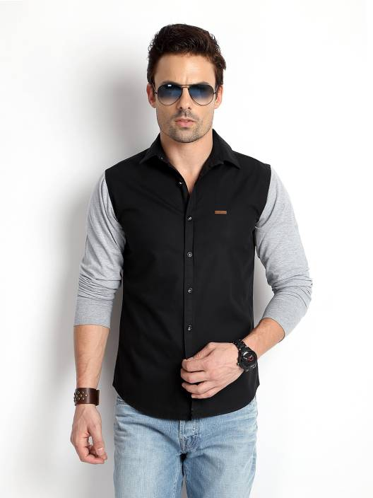 9316ca20 Rodid Men's Solid Casual Black, Grey Shirt - Buy Black Rodid Men's Solid  Casual Black, Grey Shirt Online at Best Prices in India | Flipkart.com