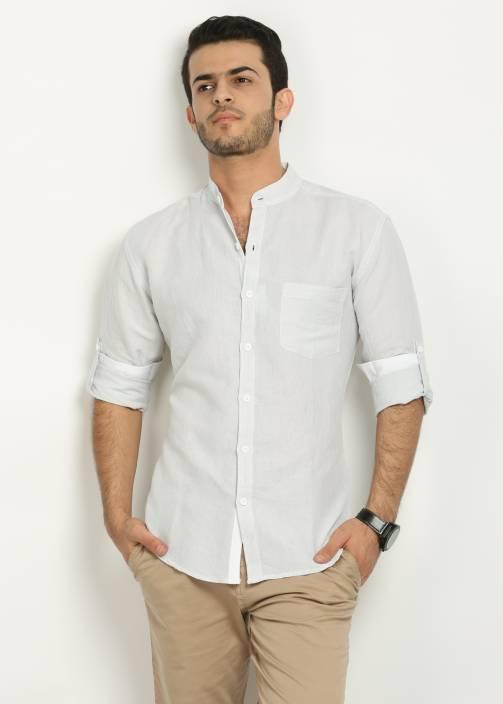 7e17da6e98 Nick & Jess Men's Solid Casual Grey Shirt - Buy Light Grey Nick ...