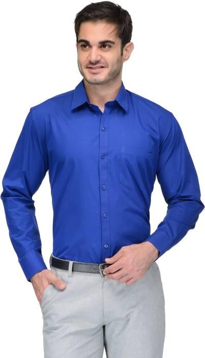 6026c4de3d3e Being Fab Men s Solid Formal Blue Shirt - Buy Royal Blue Being Fab ...
