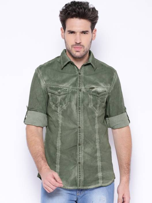 c597de50cd7 Roadster Men's Solid Casual Green Shirt